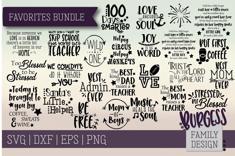 The starter bundle - Over 200 Designs | SVG DXF EPS PNG example image 14
