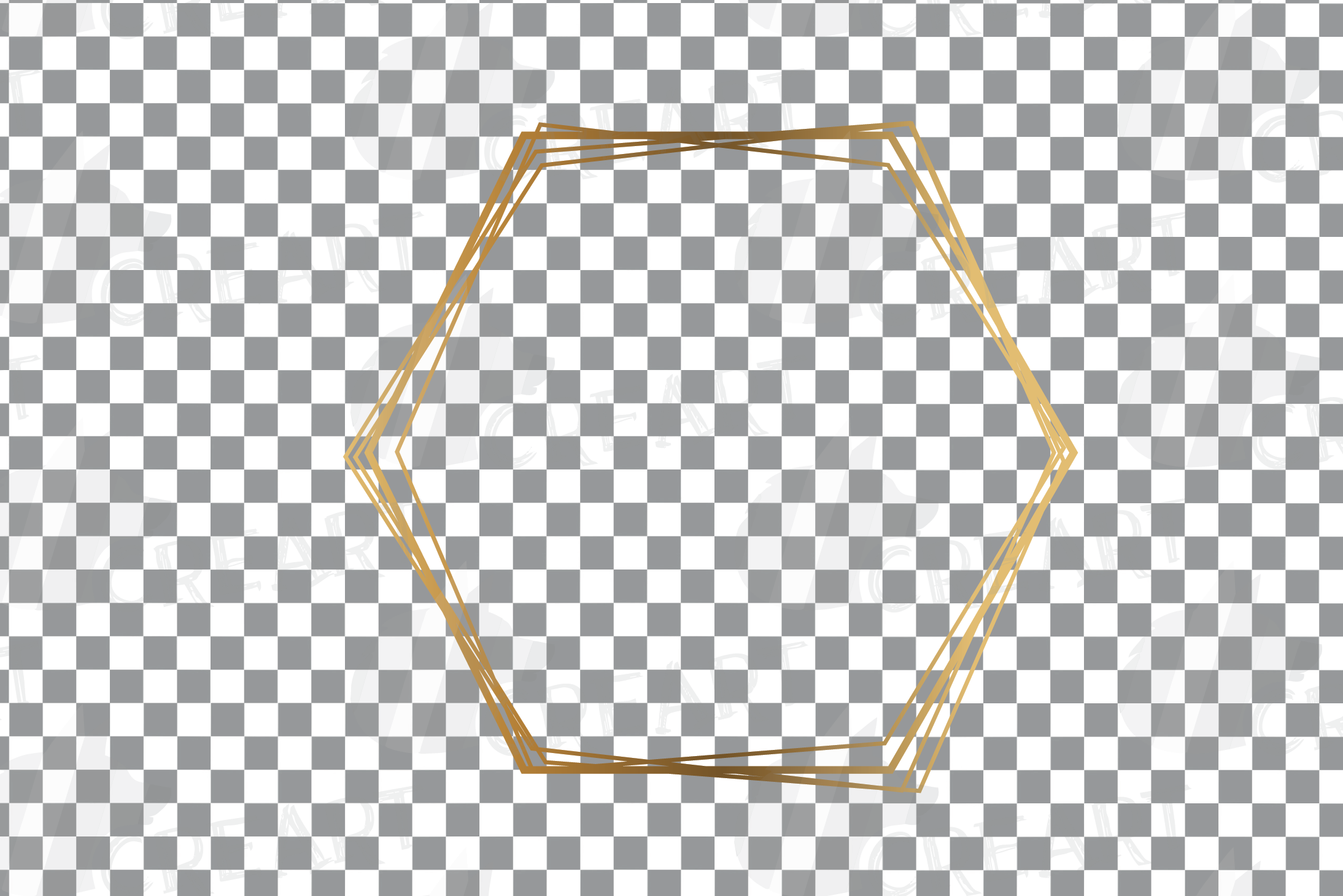 Elegant wedding geometric golden frames, lineal frames svg example image 26