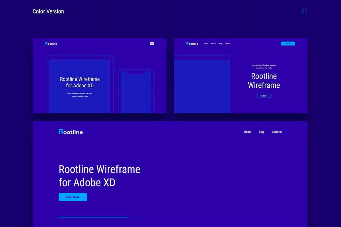 Rootline Wireframe UI Kit example image 3