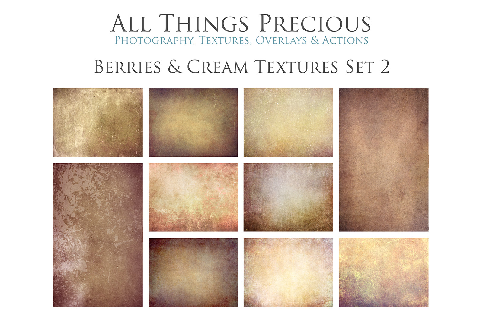 10 Fine Art BERRIES & CREAM Textures SET 2 example image 1