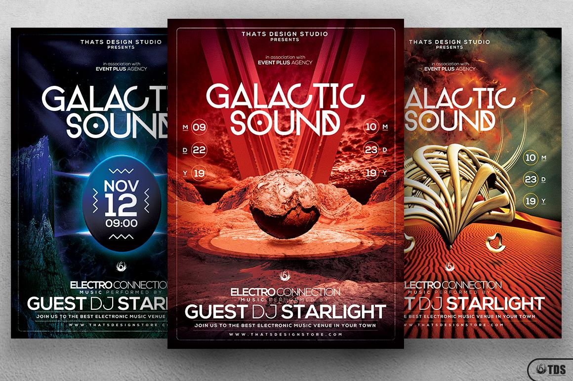 Galactic Sound Flyer Bundle example image 3