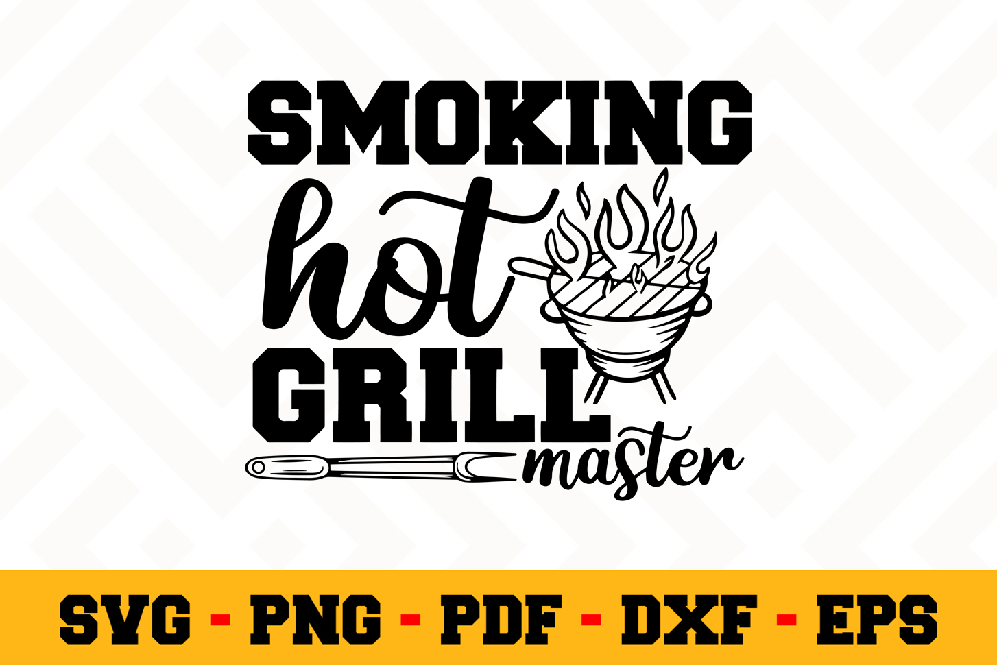 BBQ SVG Design n608   Barbecue Grill SVG Cut File example image 1