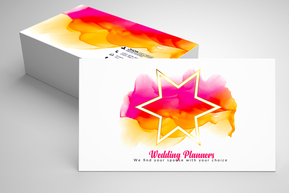 Wedding Planner's Business Card 02 example image 1