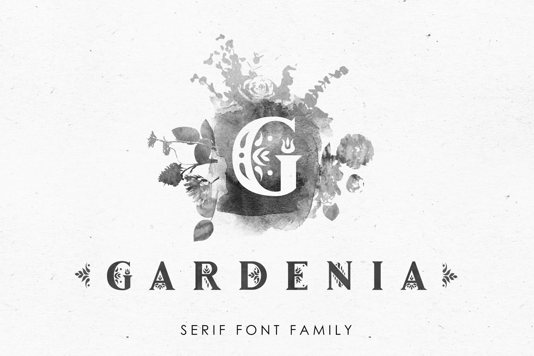Gardenia - Serif Font Family example image 1