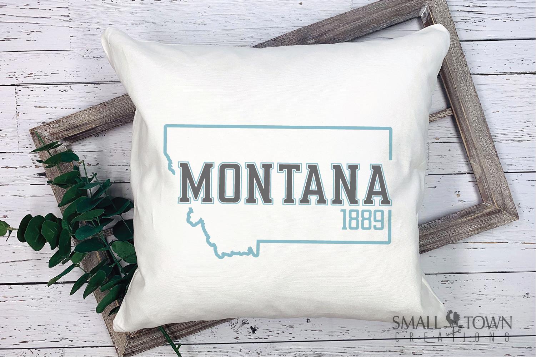 Montana, Big Sky Country - slogan, Logo, PRINT, CUT & DESIGN example image 5