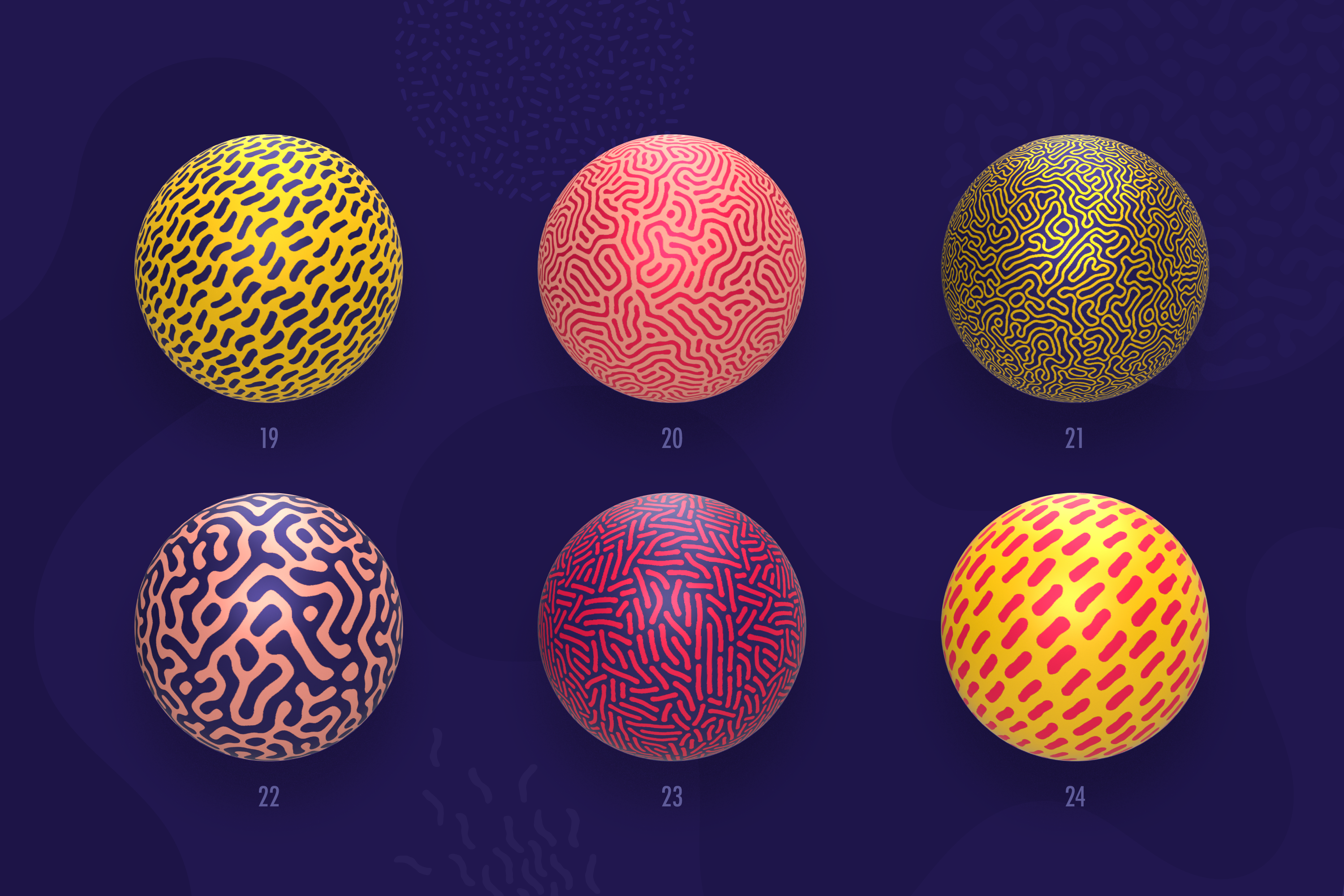Organic Shapes 100 seamless textures collection example image 9