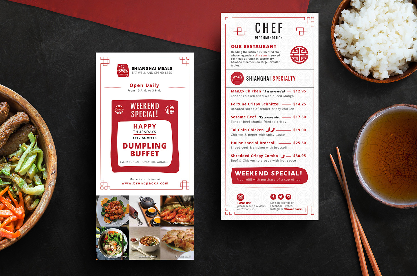 Chinese Menu & Flyer Template example image 3