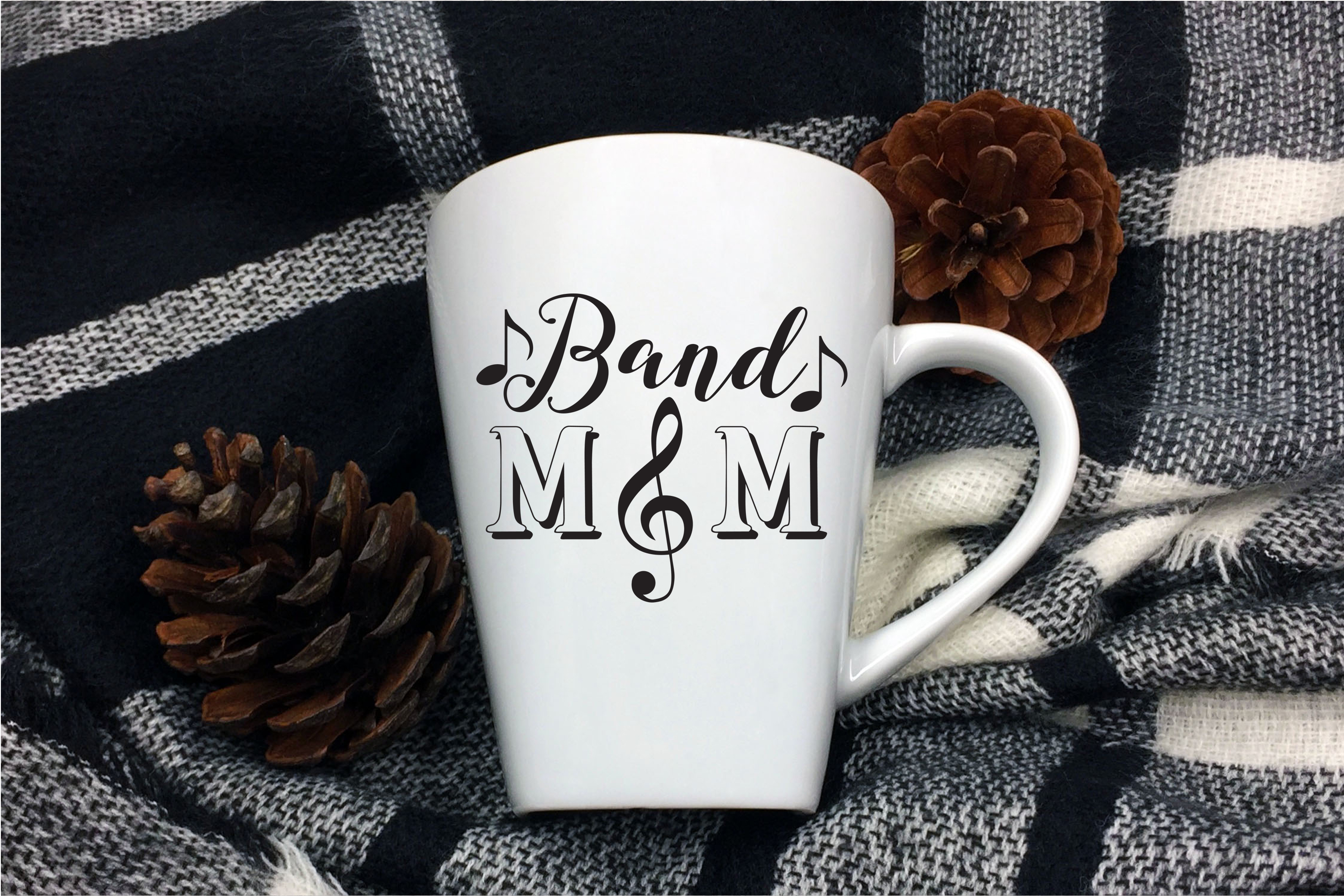 Band Mom SVG | Band Mom Clef SVG example image 2