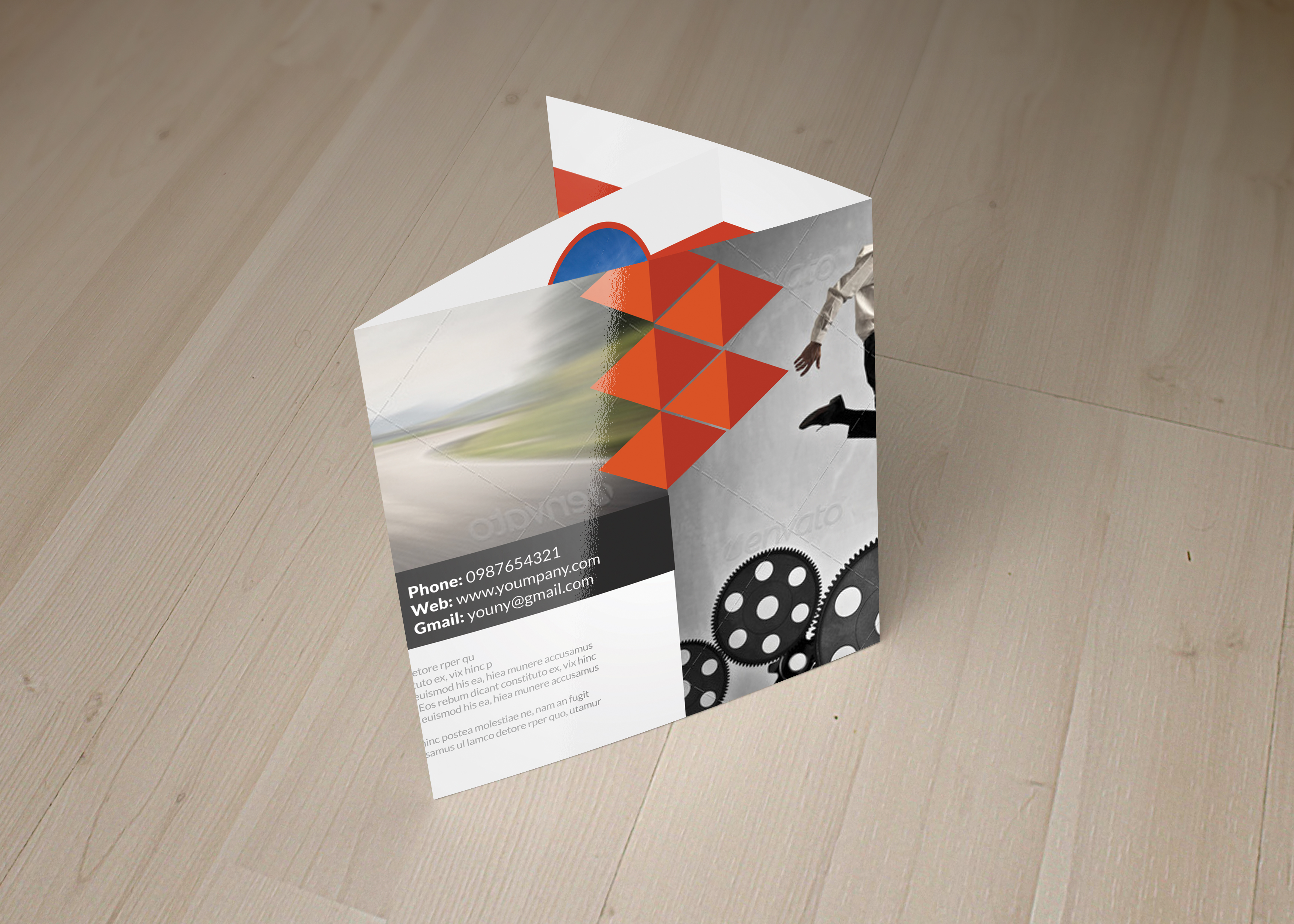 Business Strategic Square Trifold Brochure example image 6