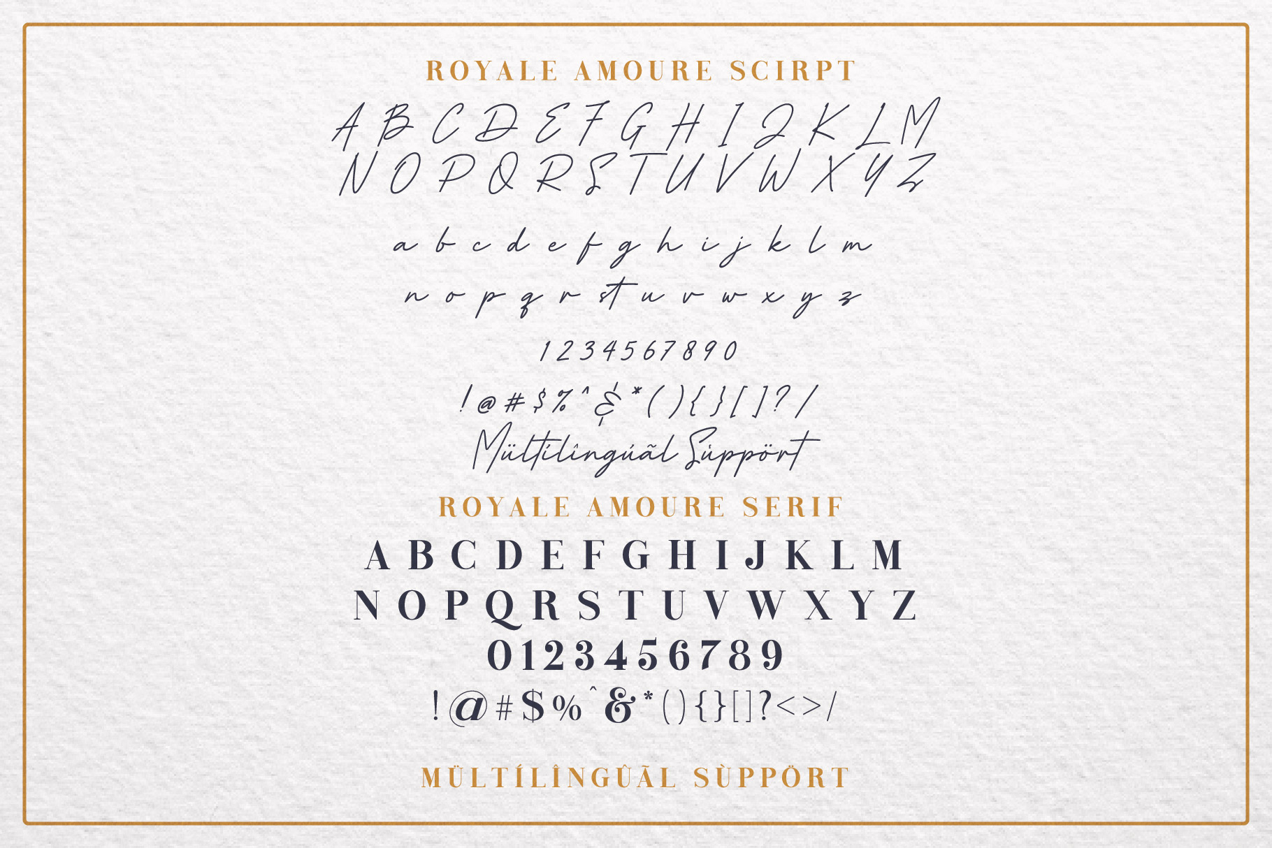 Royale Amoure Font Duo example image 7