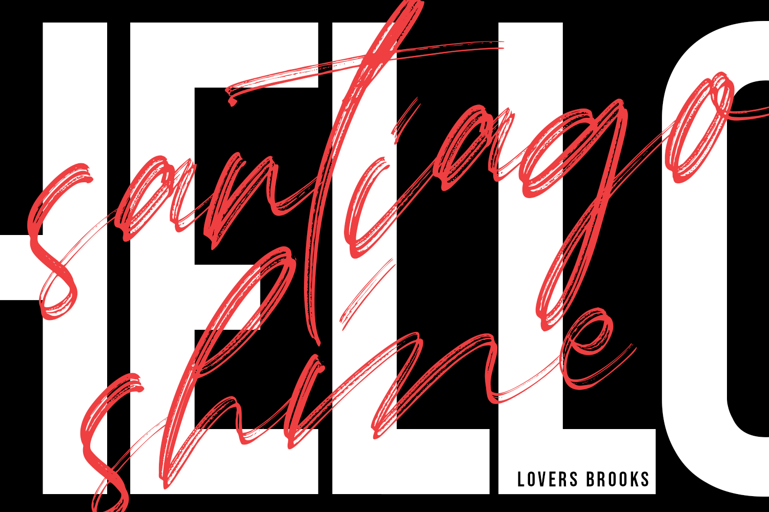 Lovers Brooks SVG Brush Font Sans example image 17