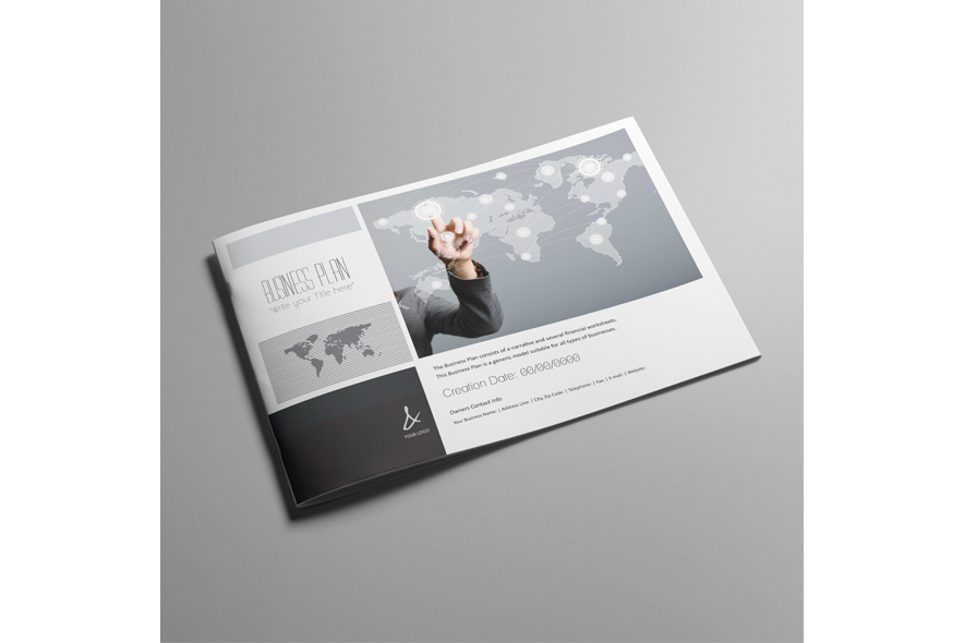 53 Pages Full Business Plan Template - A4 Landscape example image 6