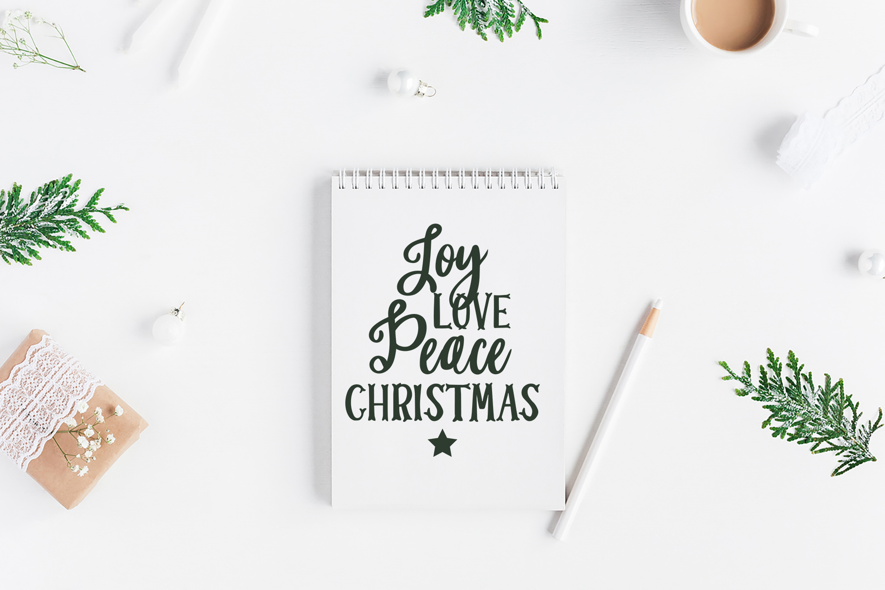 CHRISTMAS FONT BUNDLE - 4 Hand Lettered Christmas Fonts example image 3