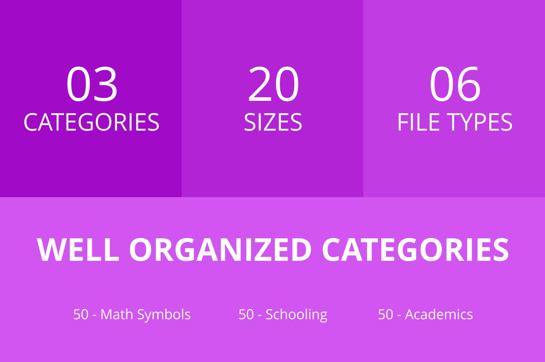 150 Academics Line Icons example image 3
