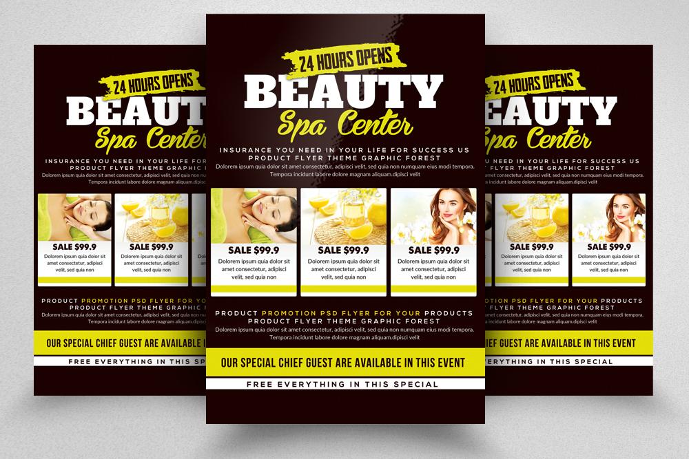 10 Spa & Skin Care Centre Flyer Bundle example image 4