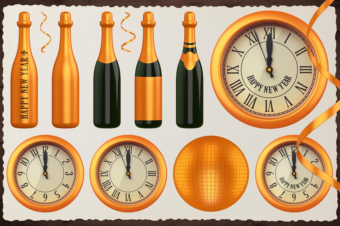 New Year 3D PNG Items Pack example image 7