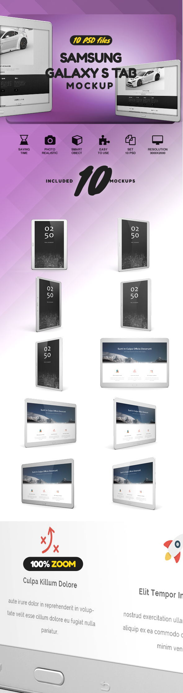 Samsung Galaxy S Tab Mockup example image 2