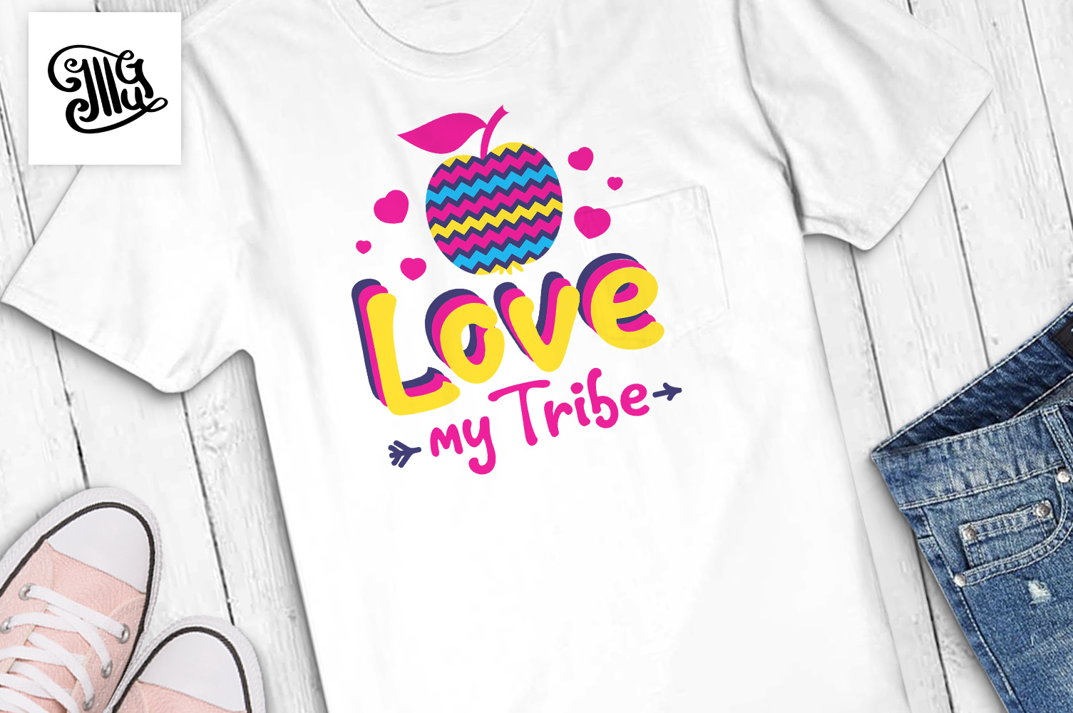 Love my tribe svg for teacher Valentines day example image 1