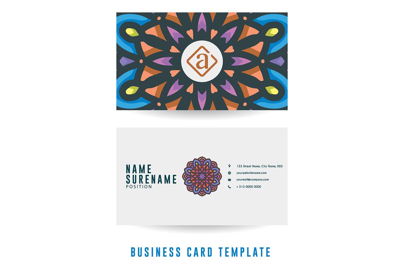Mandala Business Card Template example image 3