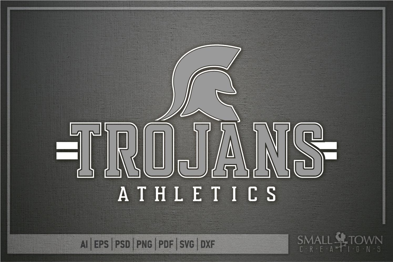 Trojans Athletics, Team, Sorts, logo, PRINT, CUT & DESIGN example image 5