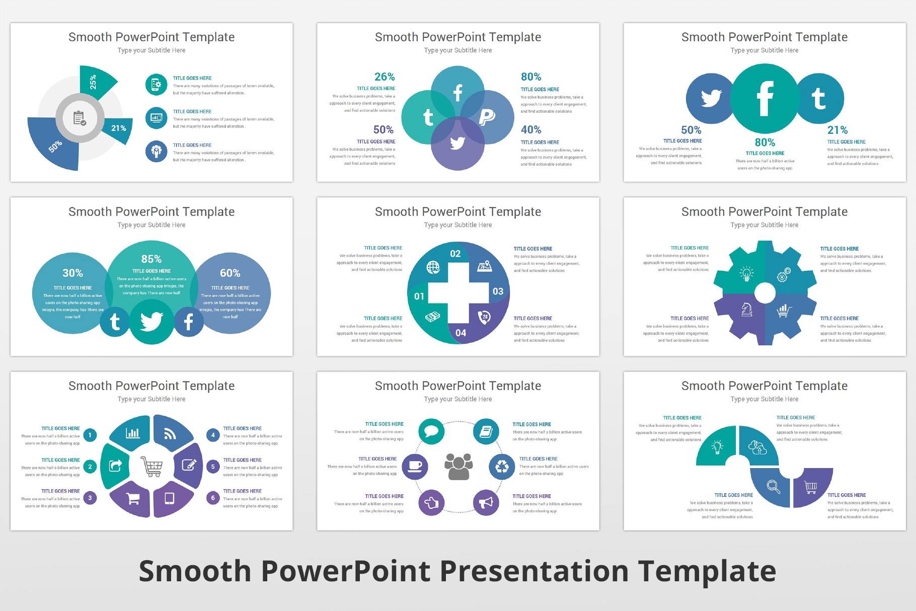 Smooth multipurpose PowerPoint Presentation Template example image 13
