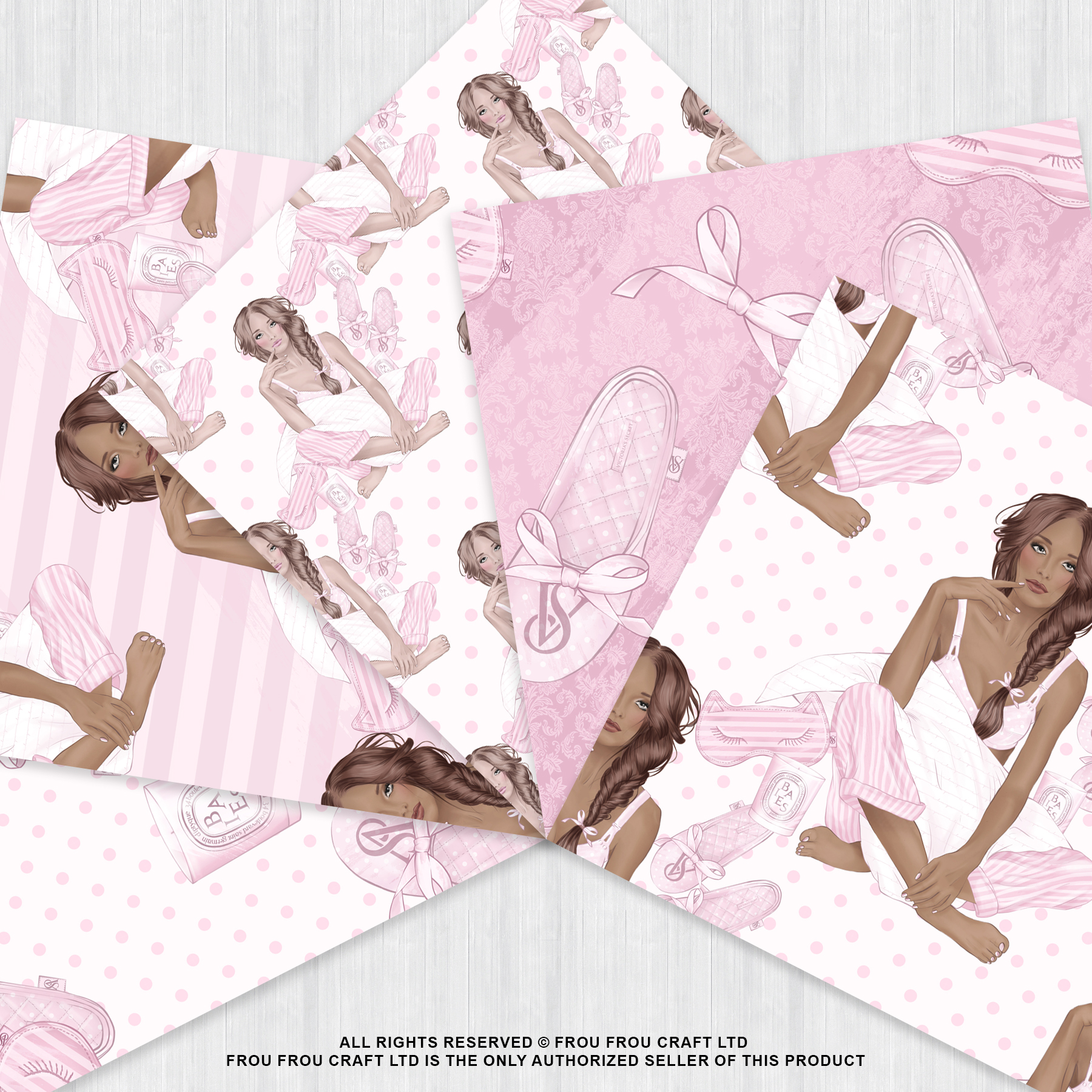 Holiday Weekend Fashion Girl Pijamas Paper Pack example image 4