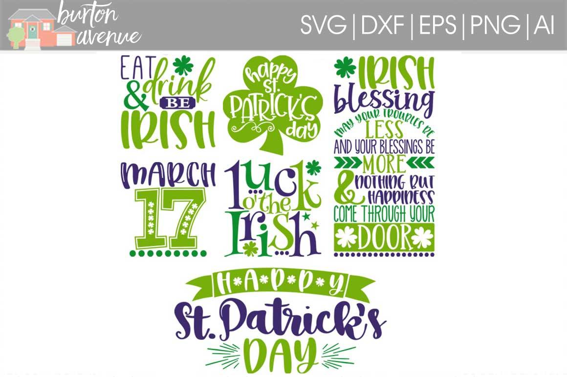 St. Patrick's Day SVG Bundle-cut files for Cricut, Silhouette example image 1