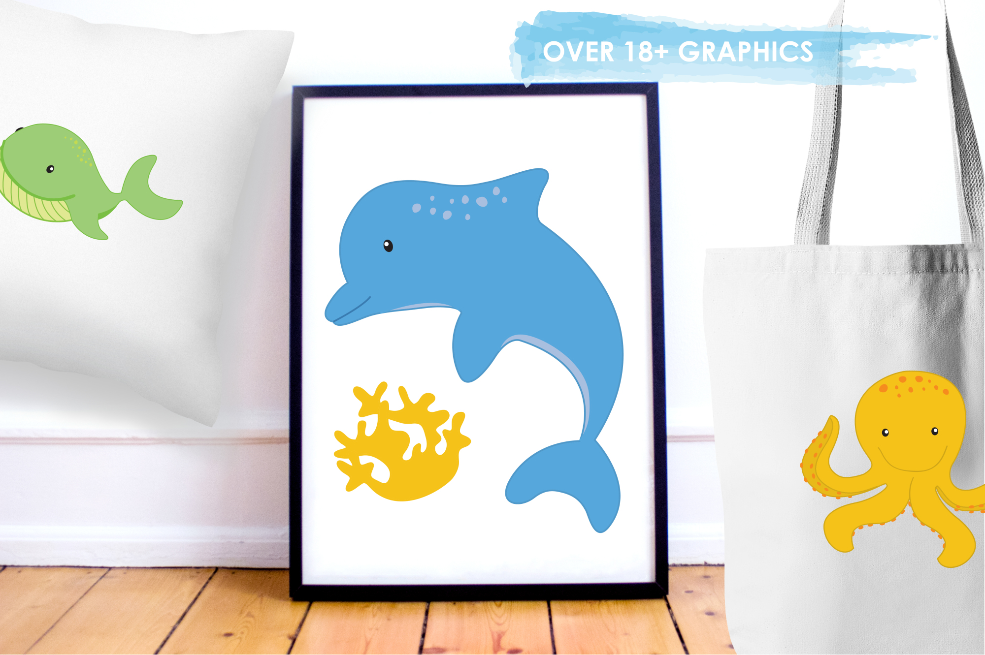 Sea Creatures Boys graphics and illustrations example image 5