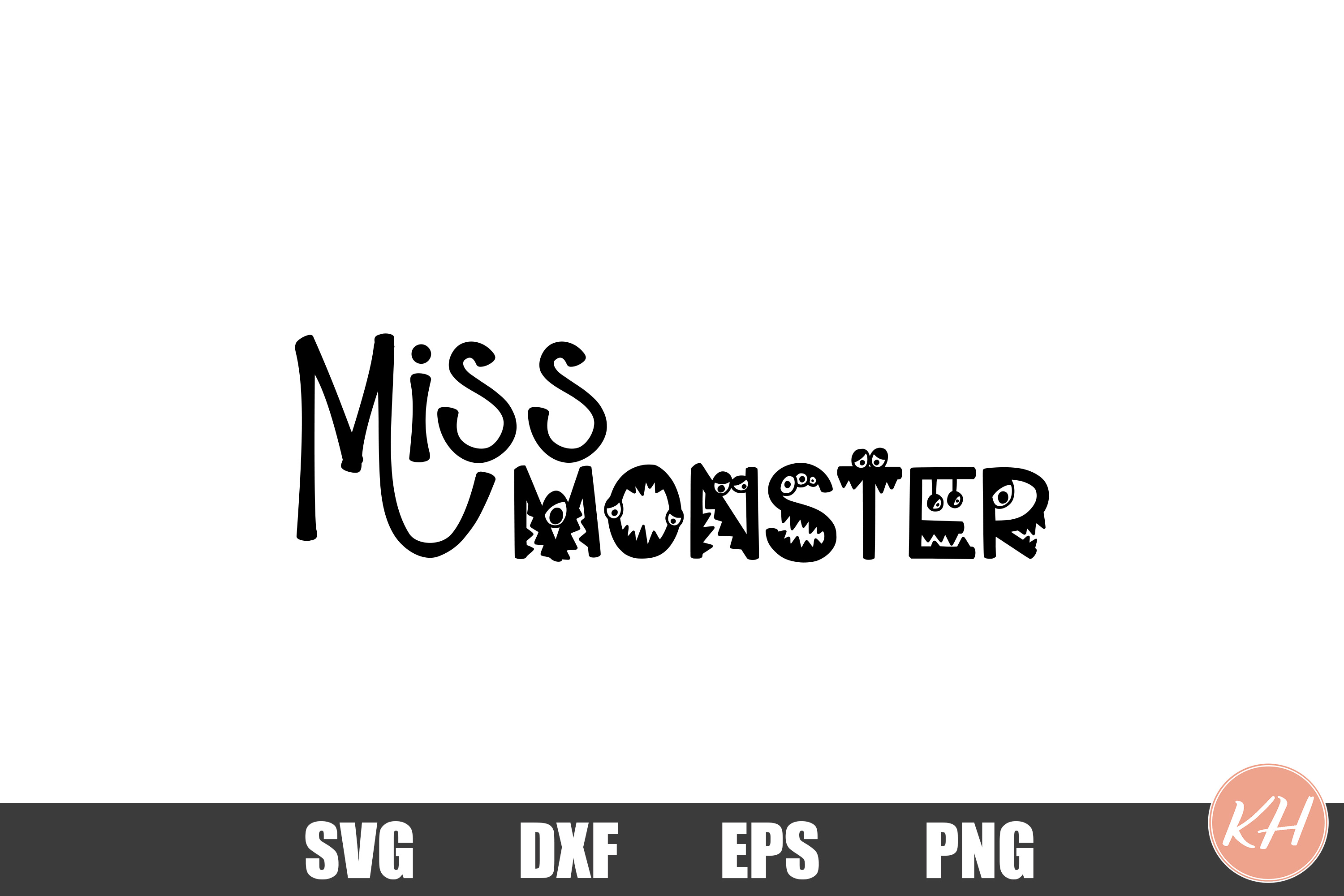 Miss Monster SVG cutting file example image 1