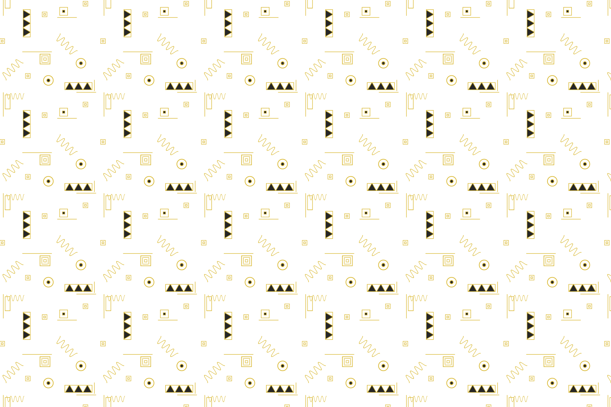 Geometric memphis patterns, seamless example image 5