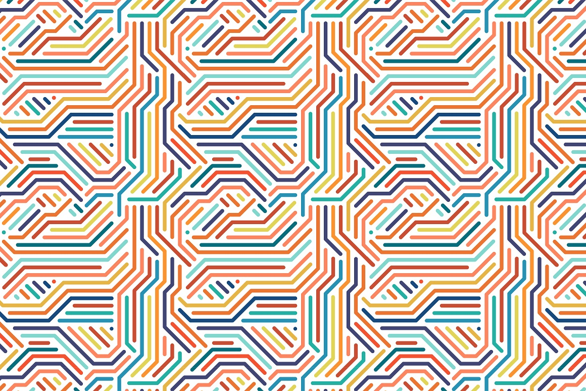 Colorful seamless striped patterns. example image 15
