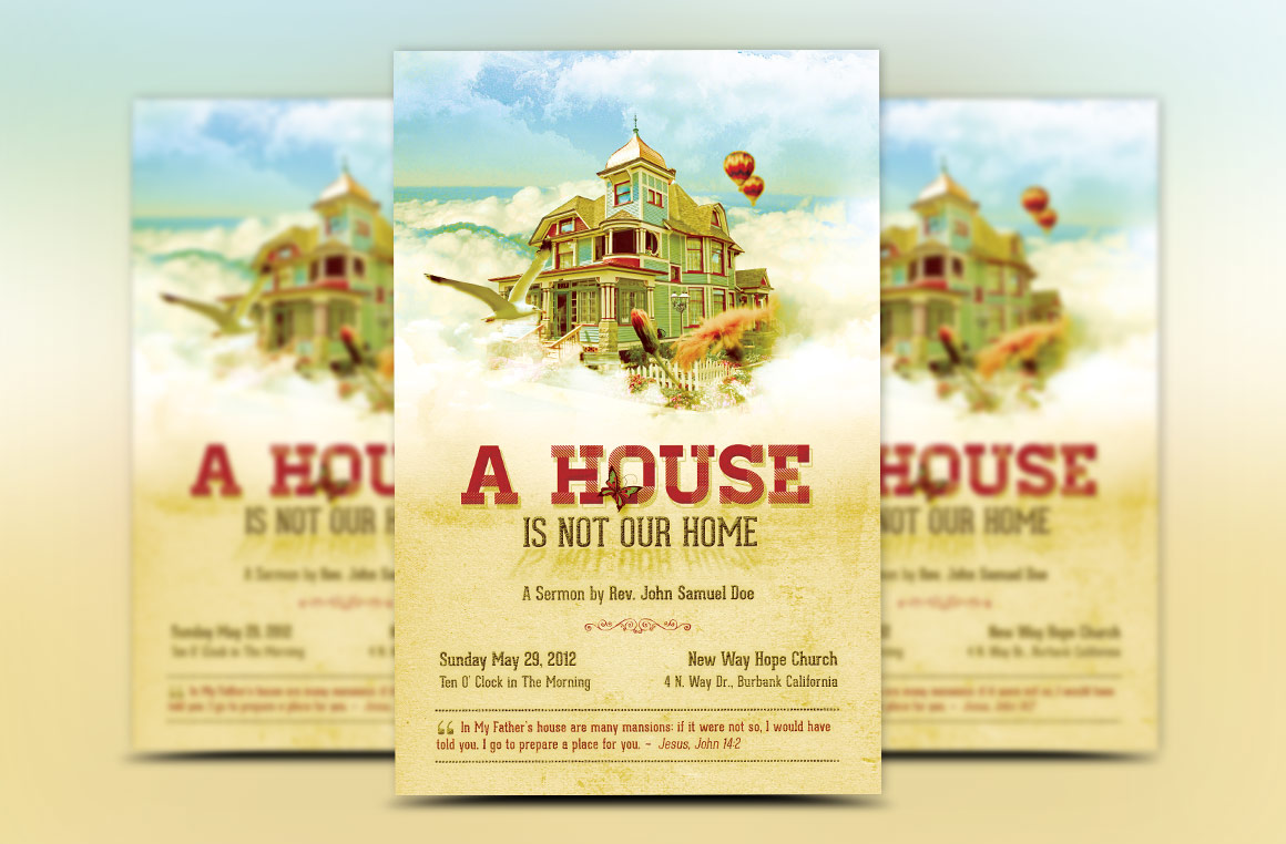 Our Home Church Flyer Template example image 2