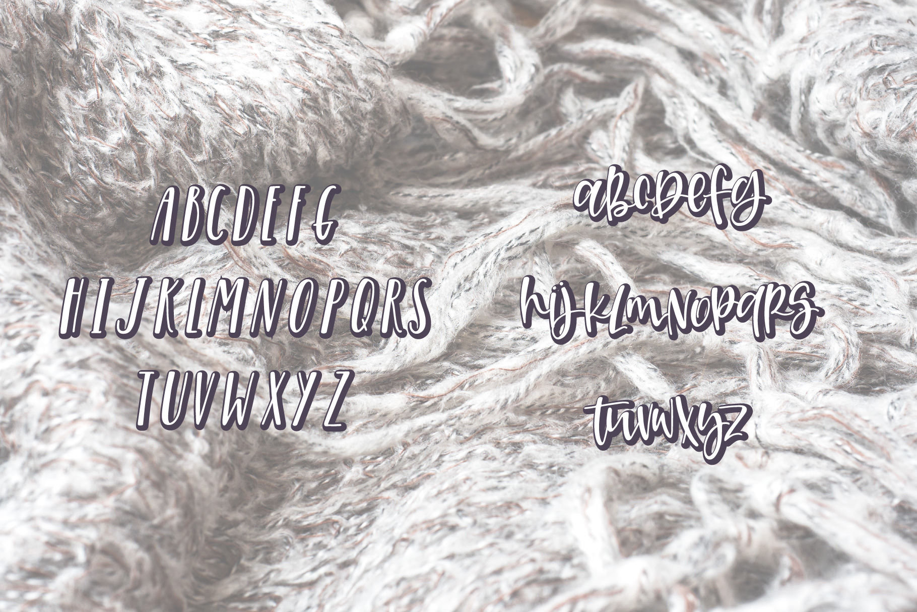 Cozy Afghan Font Duo example image 4