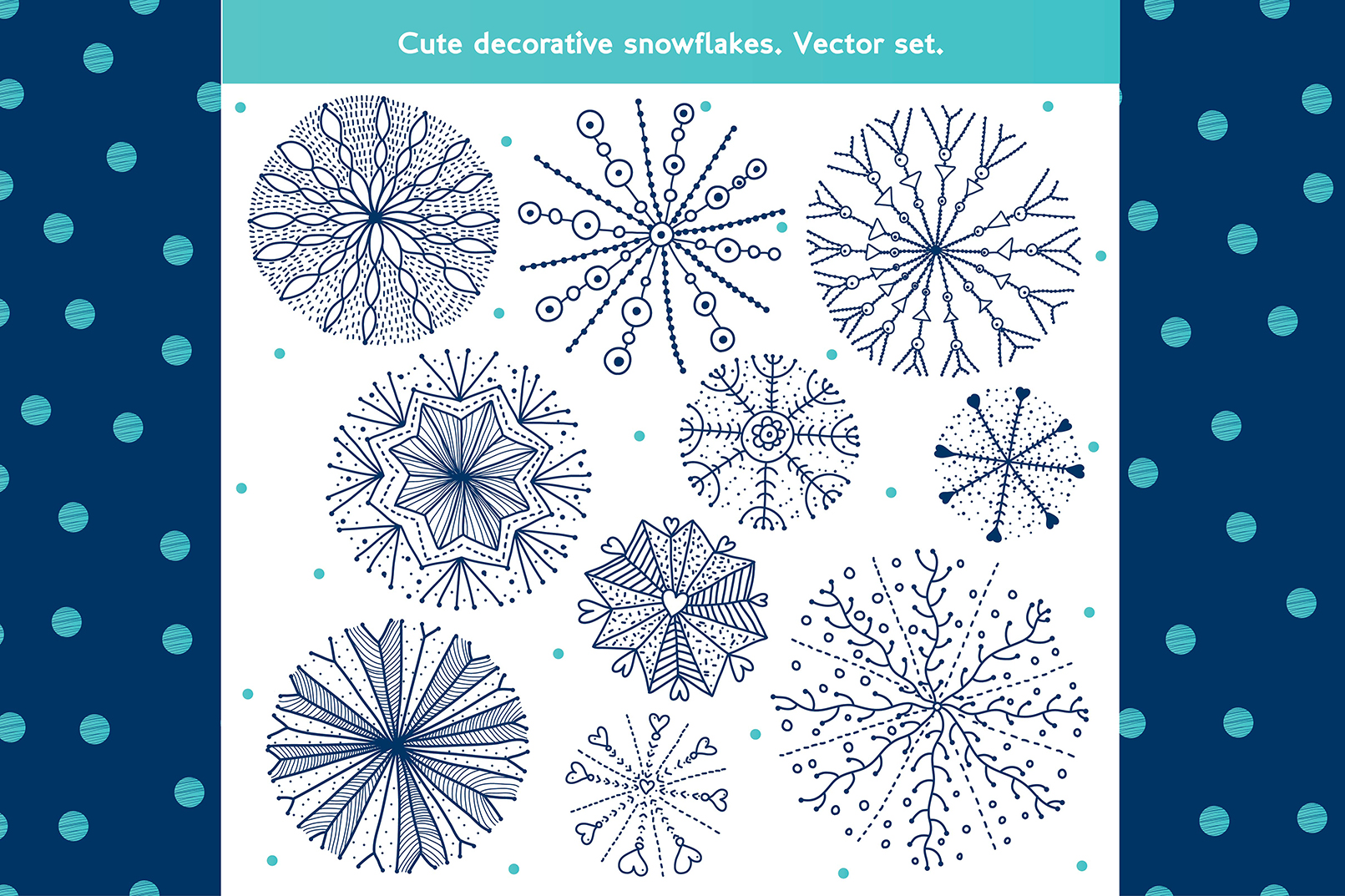 Snowflakes.Winter pattern. example image 6