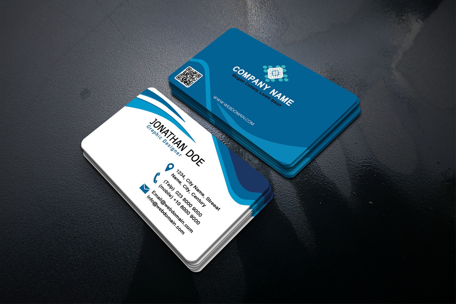 Modern Business Cards example image 2