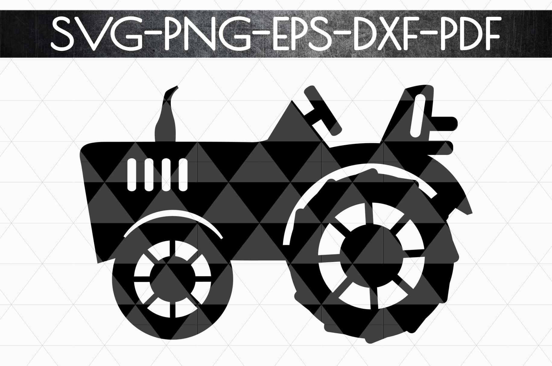 Farm Tractor Papercut Template, Rustic Farm Decor, PDF, SVG example image 3