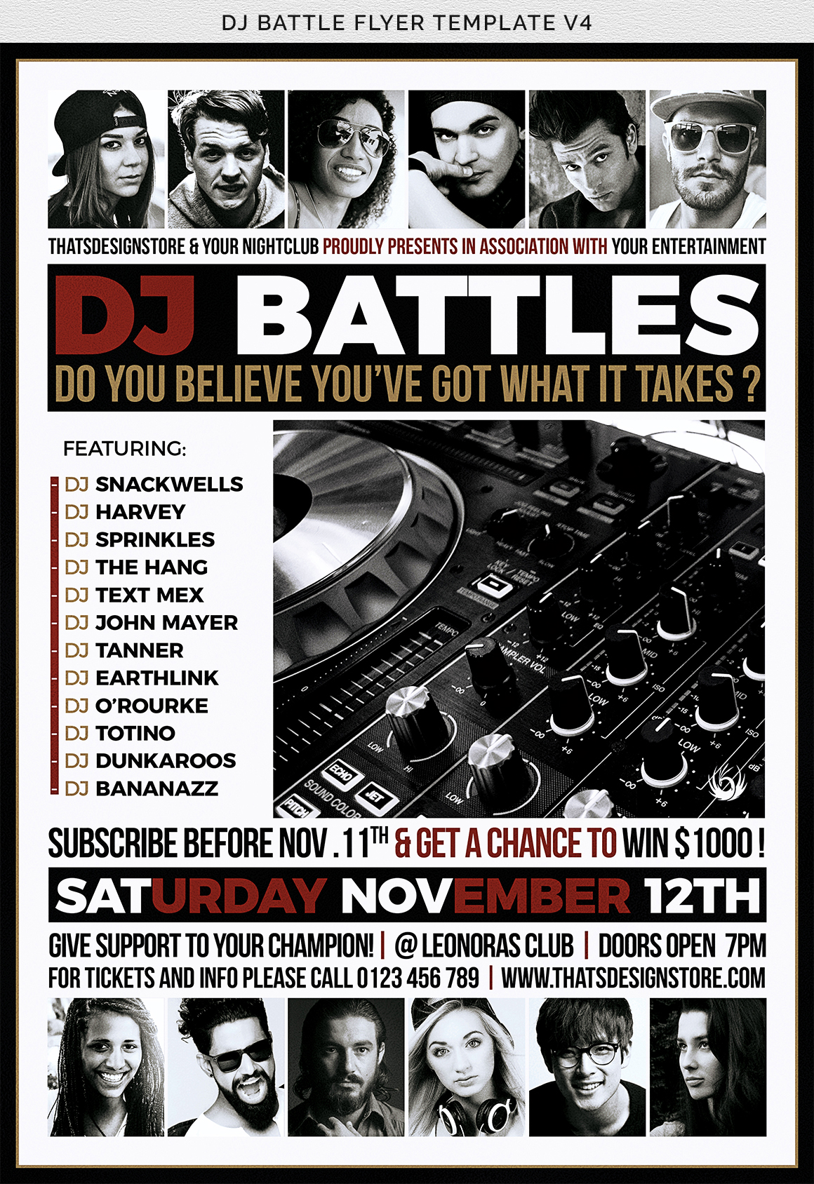 DJ Battle Flyer Template V4 example image 10