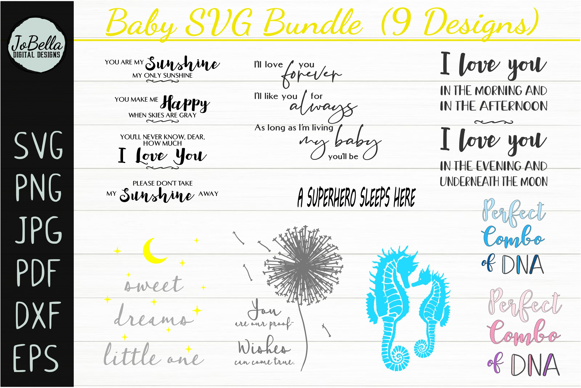 Baby SVG Bundle, Sublimation PNGs and Printables example image 1