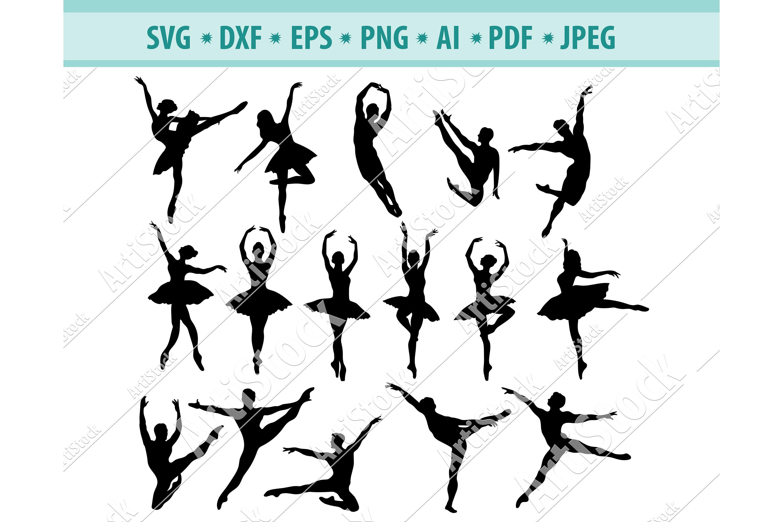 Ballet SVG, Ballerina SVG, Ballet Dancers svg, Dxf, Png, Eps example image 1