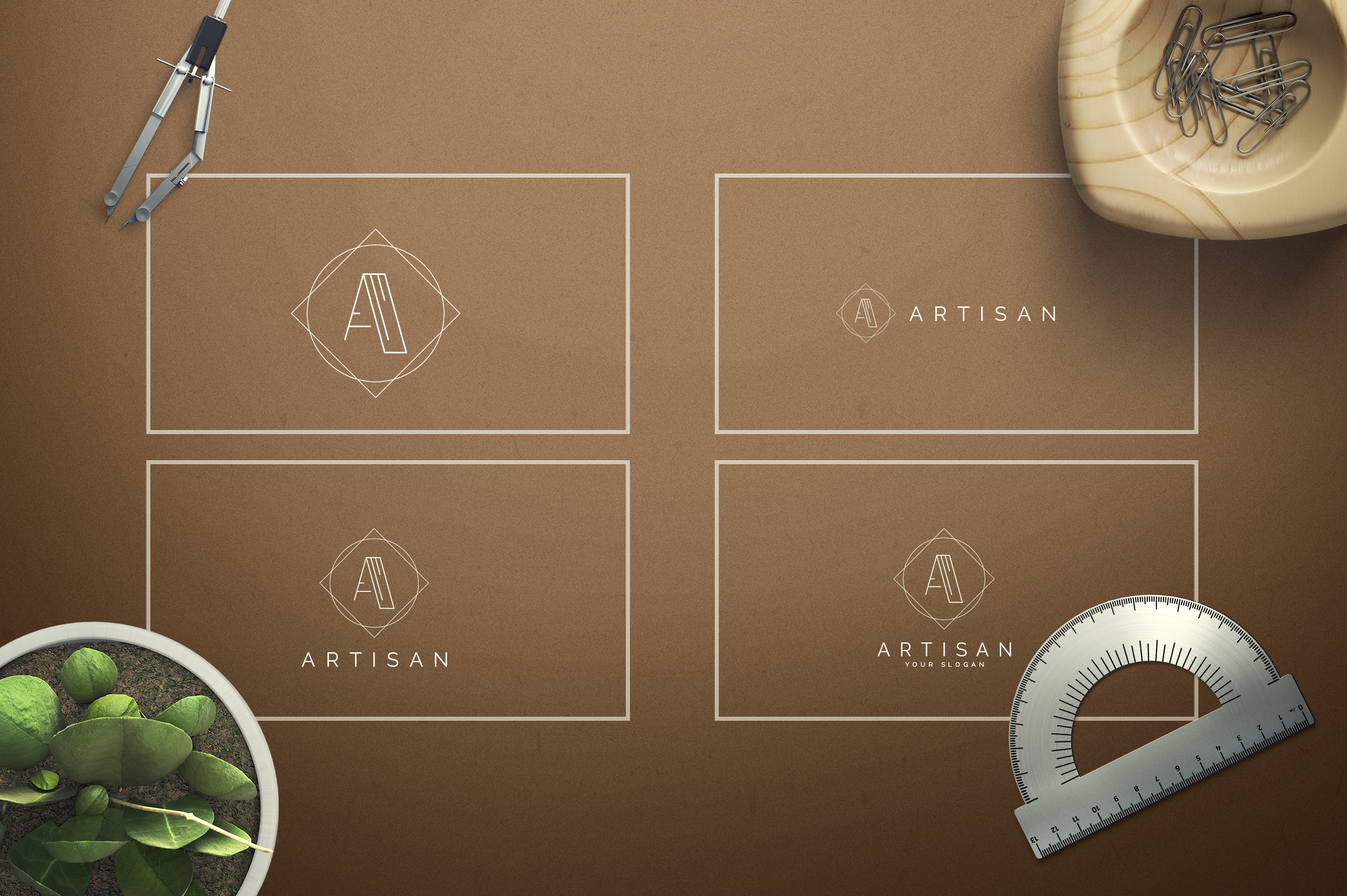 Geometric Letters and Logo Designs example image 2