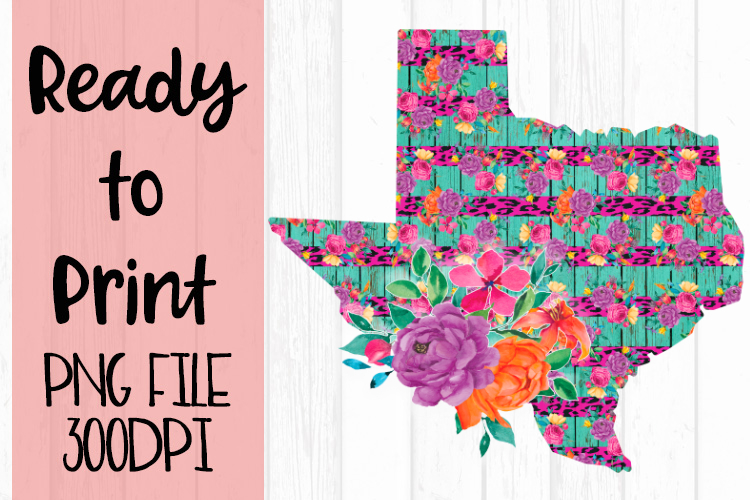 Bright Funky Texas Ready to Print example image 1