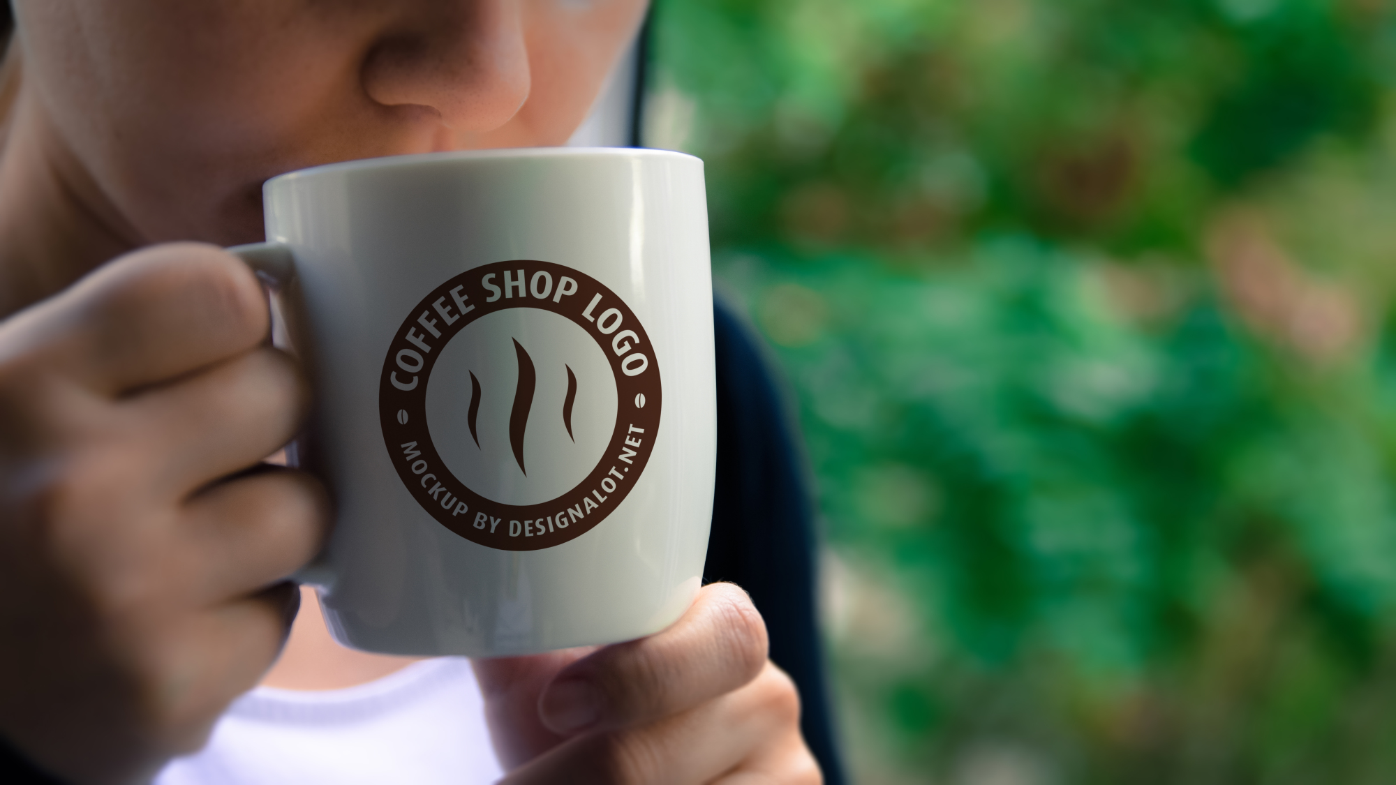 Models with Coffee Mugs Mockups Pack example image 4