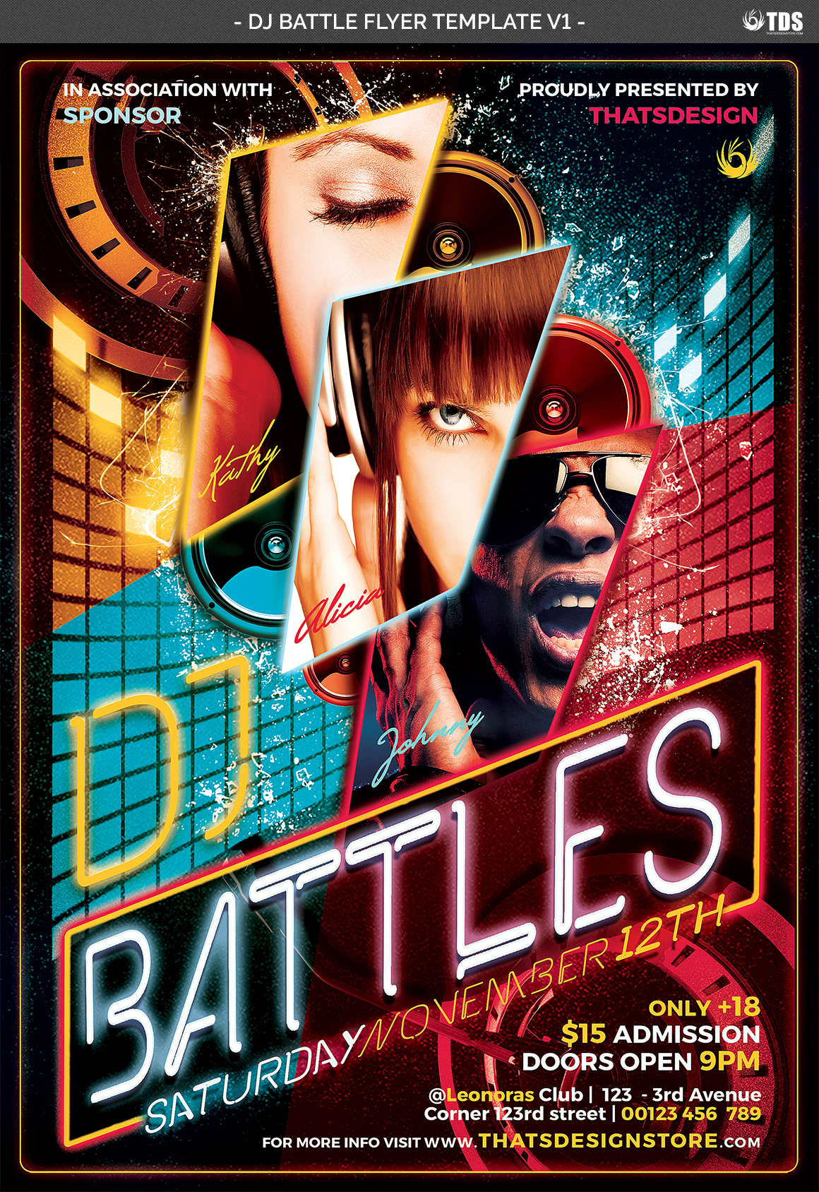 DJ Battle Flyer Template V1 example image 4