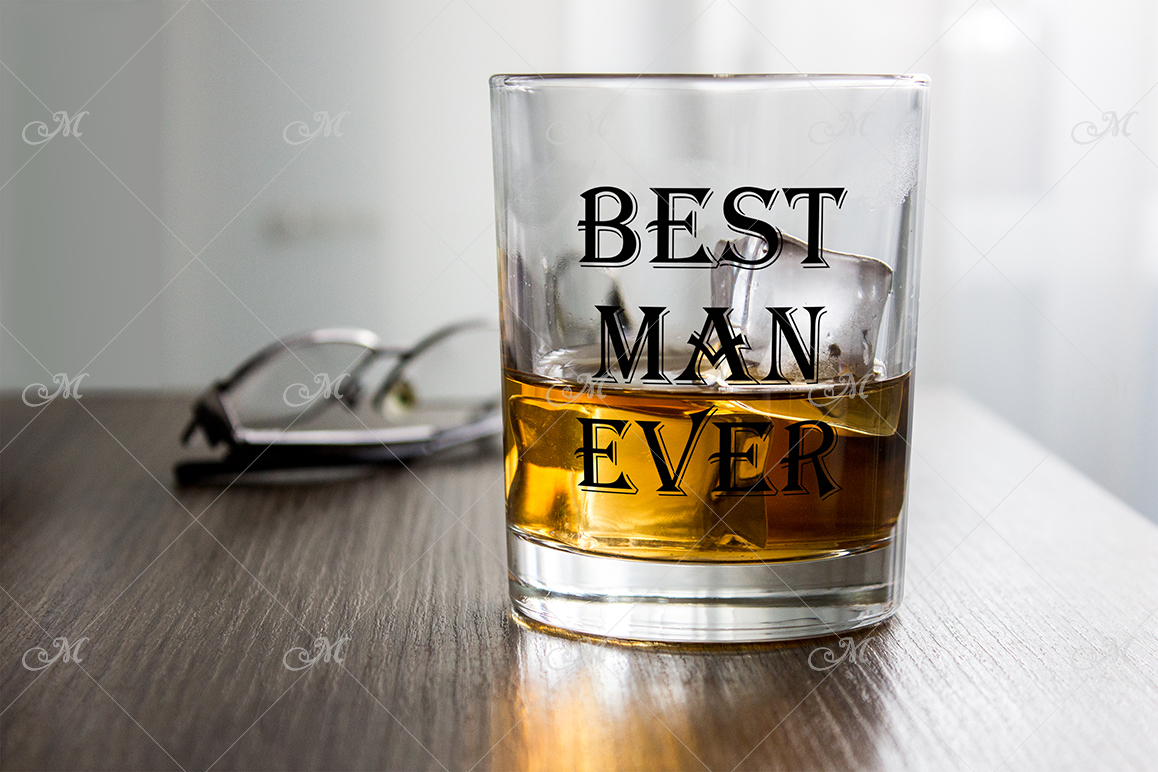 Whiskey Glass Mock-up. PSD+JPG example image 1