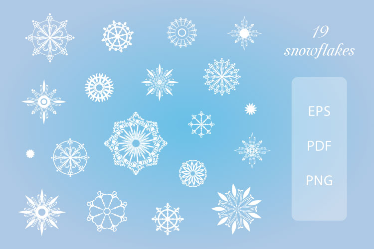 Winter Holidays, Christmas, New Year - vector clip art pack example image 3