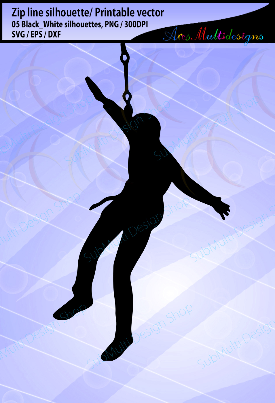 zip line silhouette / zip line ride silhouette / SVG vector / zip line clipart / Commerical use / Digital File vector example image 2
