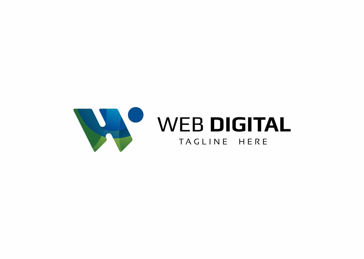 Web Digital W Letter Logo example image 3