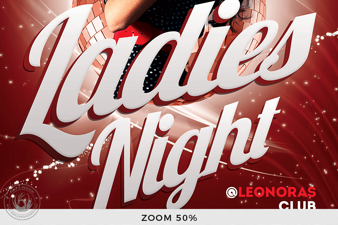 Ladies Night Flyer template V1 example image 7