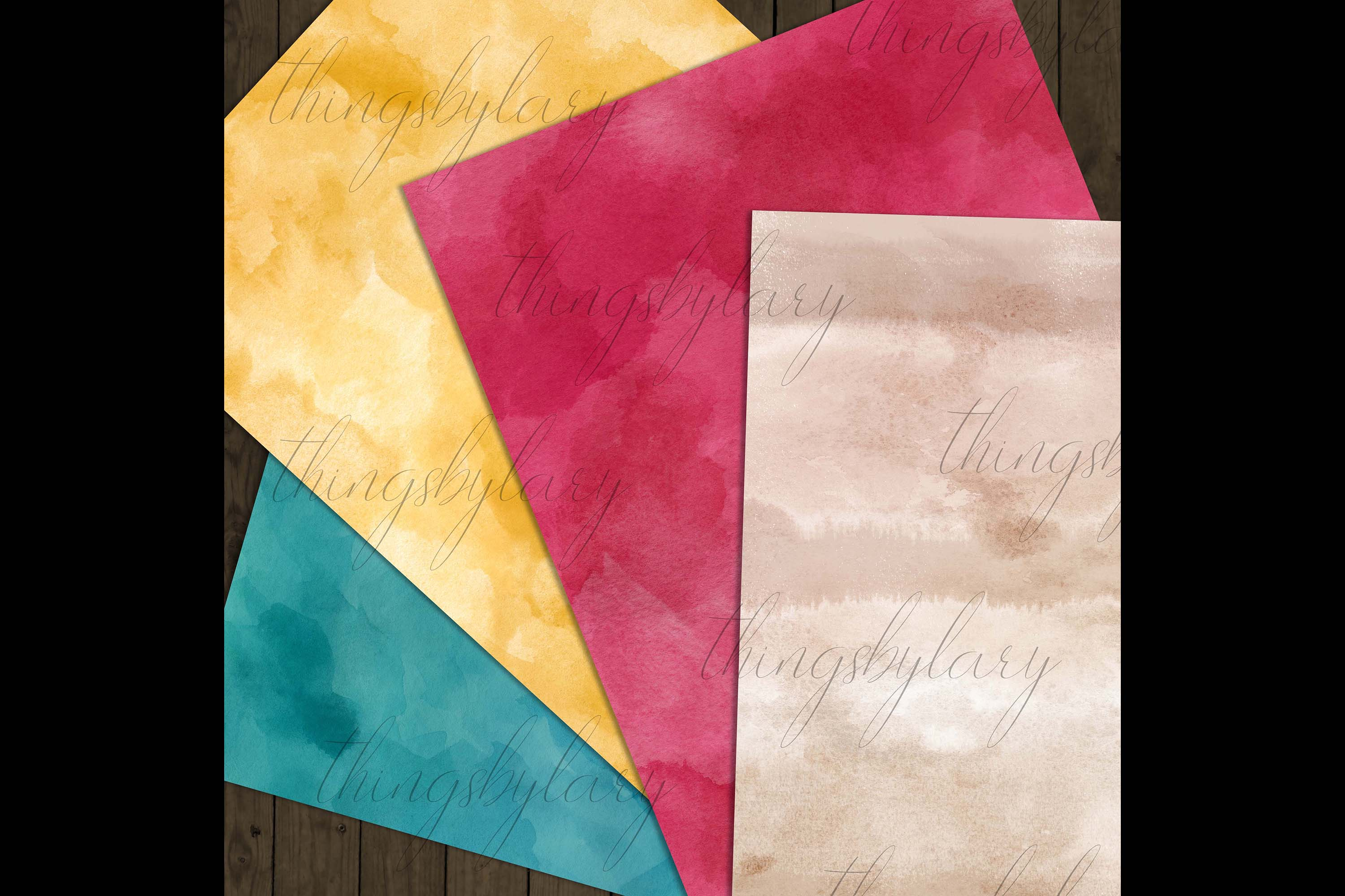 18 Sweet Ombre Watercolor Digital Images Card Invitation example image 8