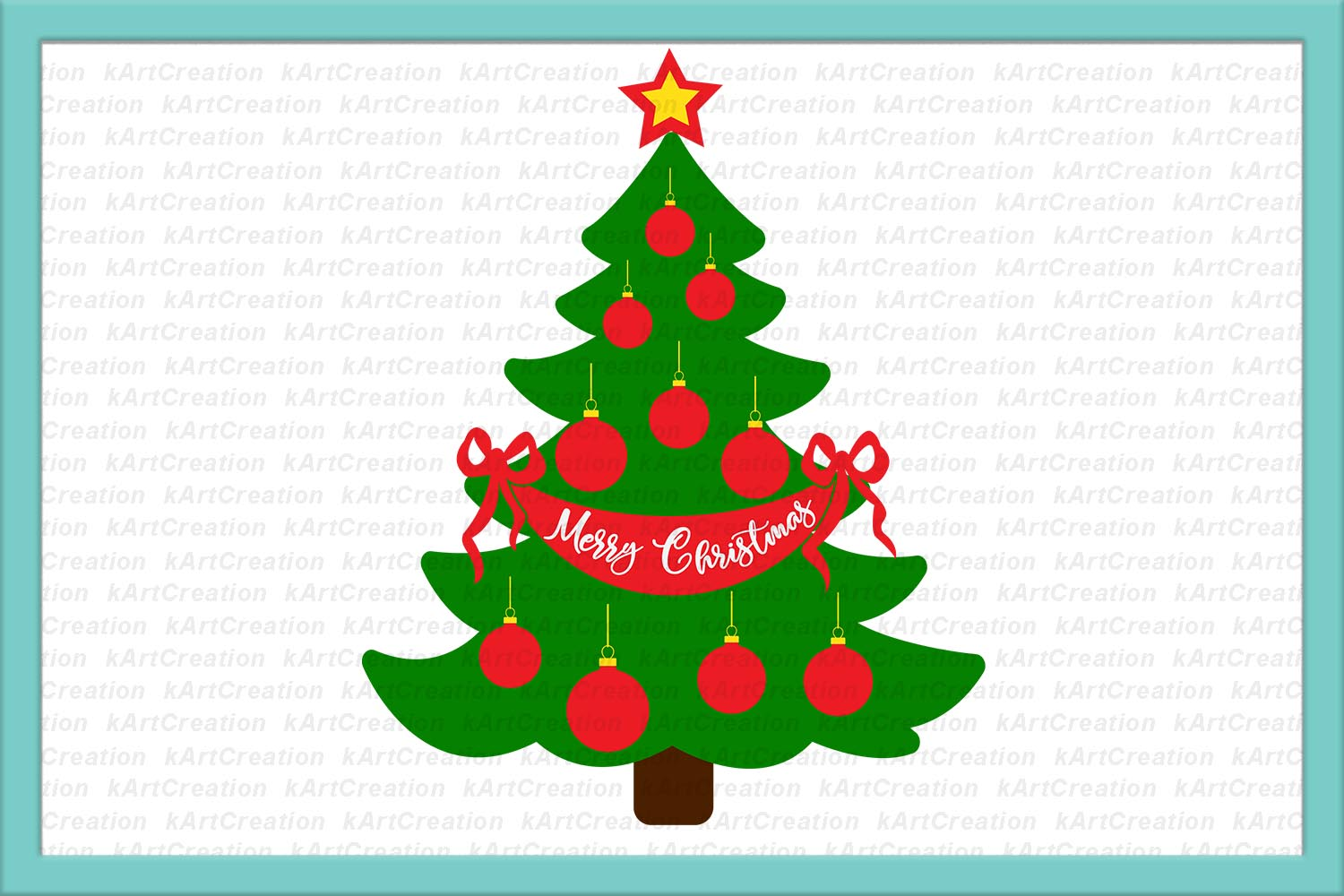 Christmas Family tree svg, Merry Christmas file for cut dxf example image 1